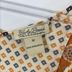 Lucky Brand Tops - Lucky Brand Boho Rayon Mixed Media Sleeveless Top